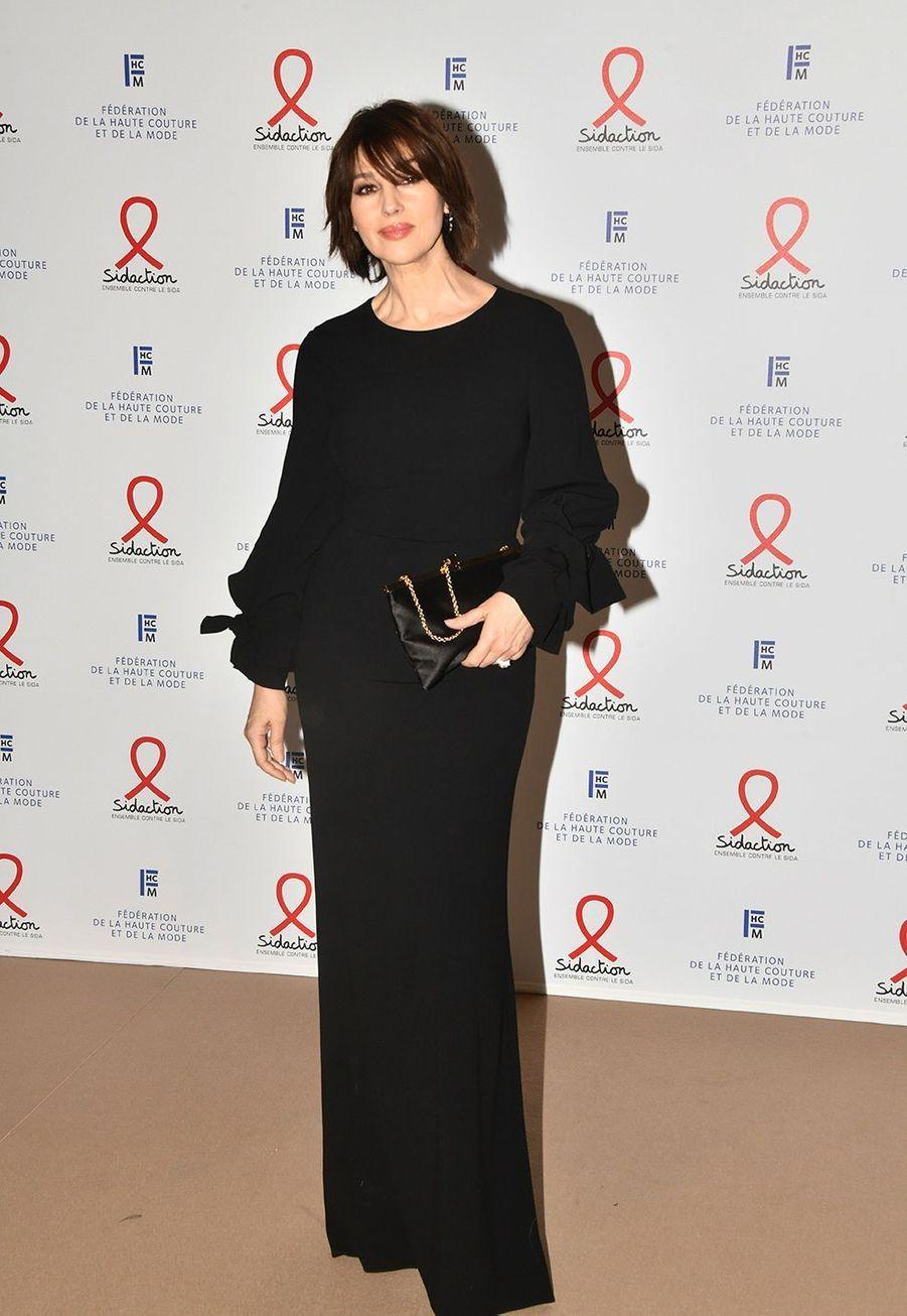 """Monica Belluccilors du """"Dîner de la mode du Sidaction"""" à Paris, le 23 janvier 2020."""