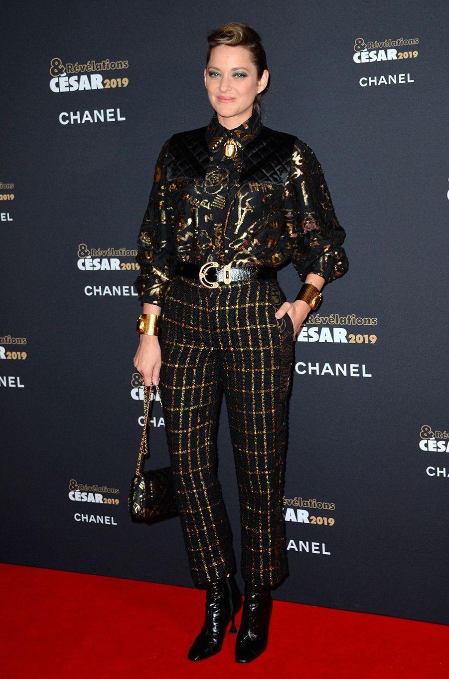 Marion Cotillard au Petit Palais pour la soirée des Révélations des César, lundi 14 janvier