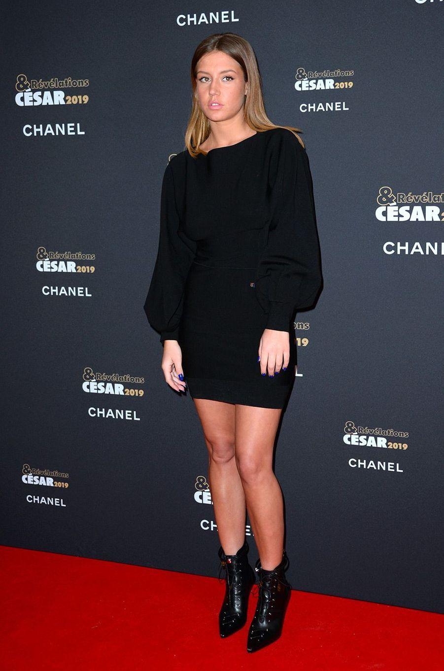 Adèle Exarchopoulos au Petit Palais pour la soirée des Révélations des César, lundi 14 janvier