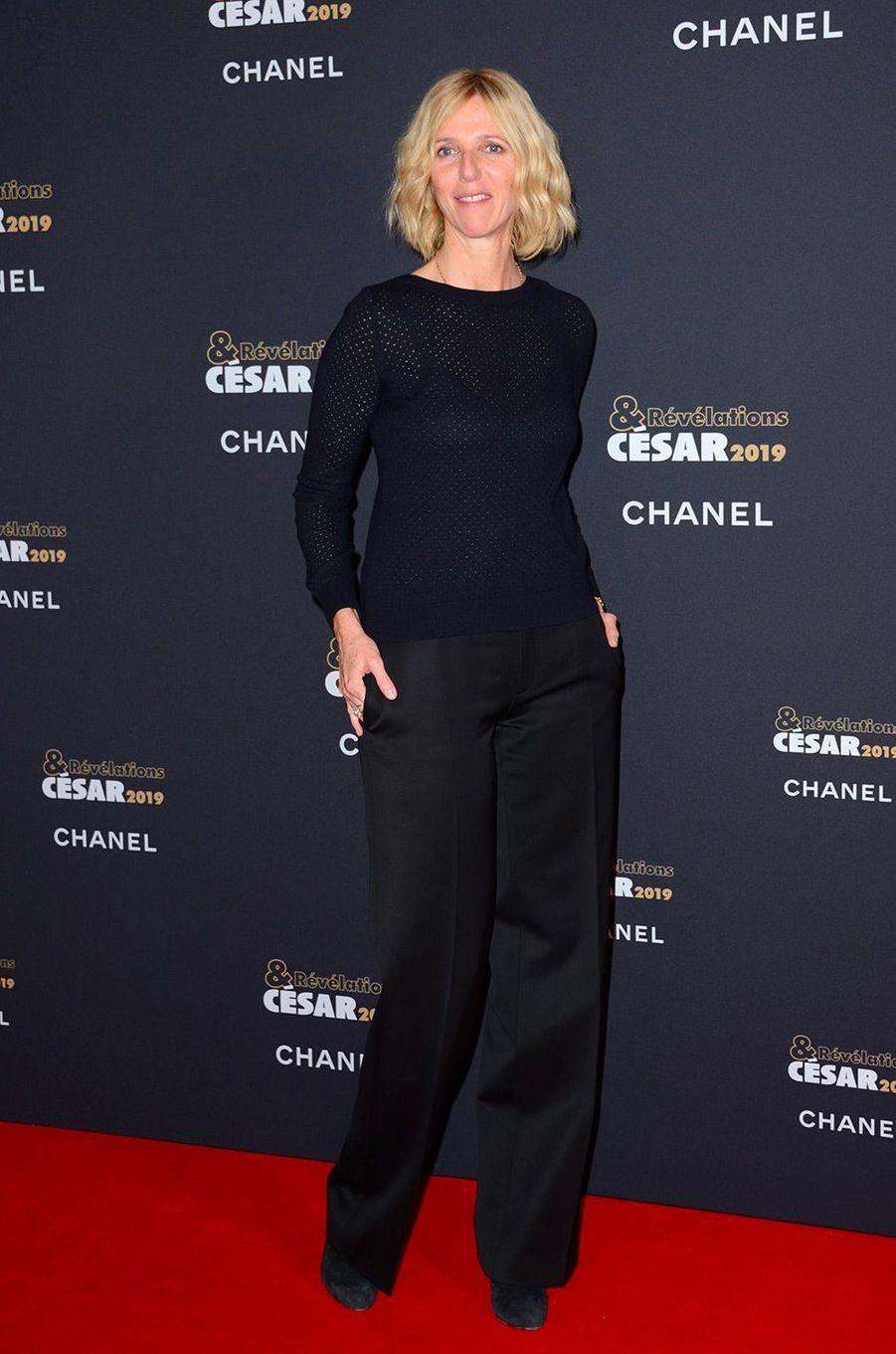 Sandrine Kiberlain au Petit Palais pour la soirée des Révélations des César, lundi 14 janvier