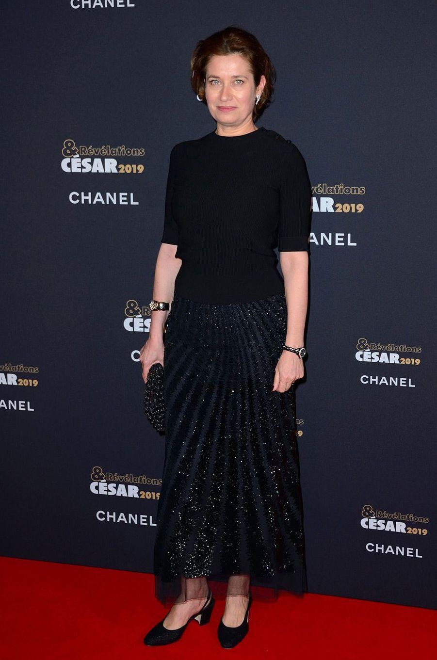 Emmanuelle Devos au Petit Palais pour la soirée des Révélations des César, lundi 14 janvier