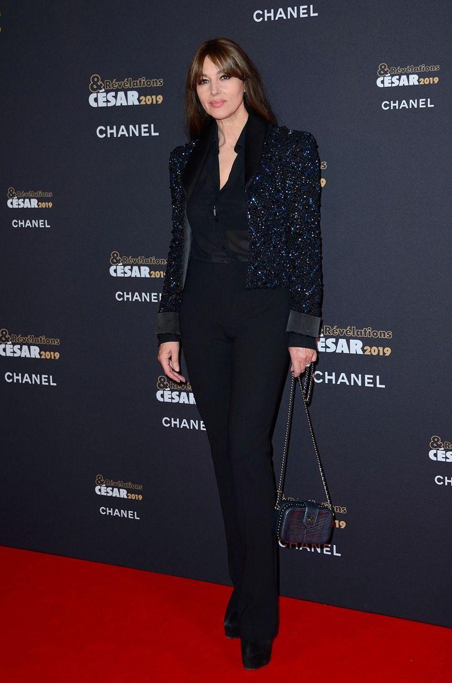 Monica Bellucci au Petit Palais pour la soirée des Révélations des César, lundi 14 janvier