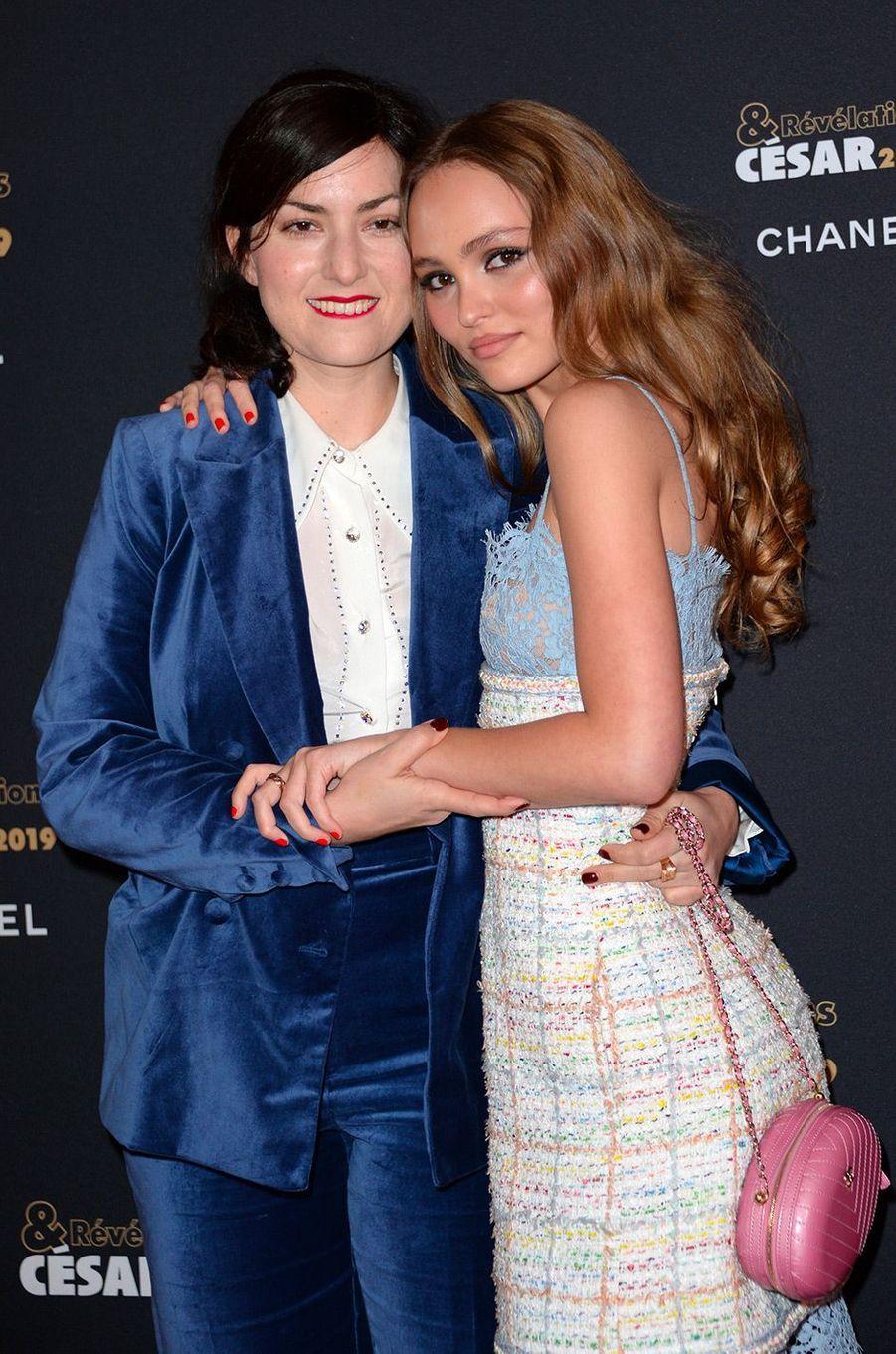 Lily-Rose Depp et Rebecca Zlotowski au Petit Palais pour la soirée des Révélations des César, lundi 14 janvier