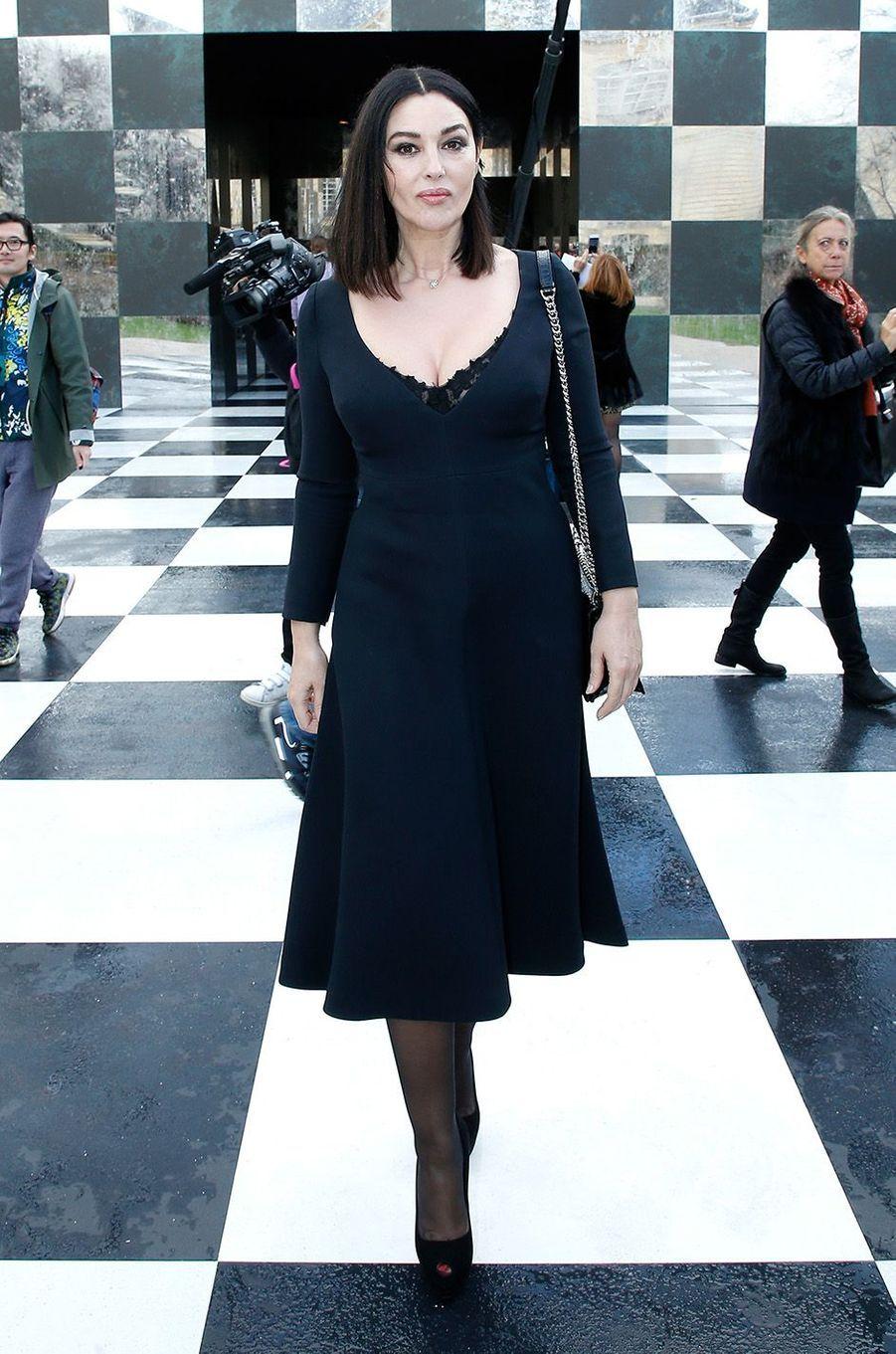 Monica Bellucciau défilé Christian Dior au musée Rodin, à Paris, le 22 janvier 2018.