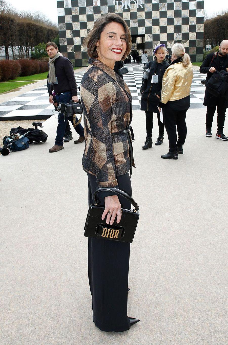 Alessandra Subletau défilé Christian Dior au musée Rodin, à Paris, le 22 janvier 2018.
