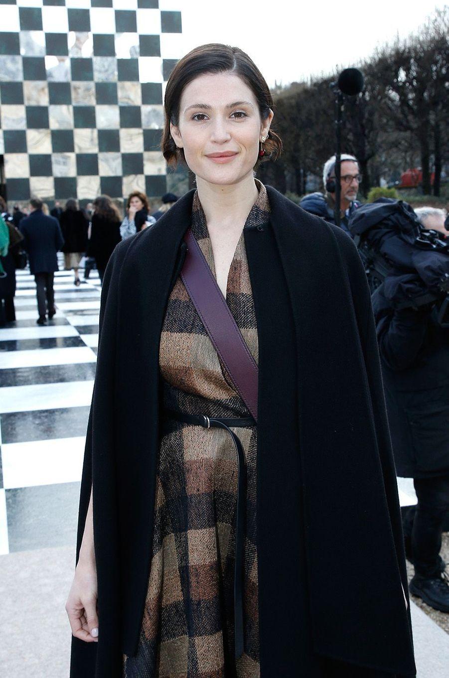 Gemma Atertonau défilé Christian Dior au musée Rodin, à Paris, le 22 janvier 2018.