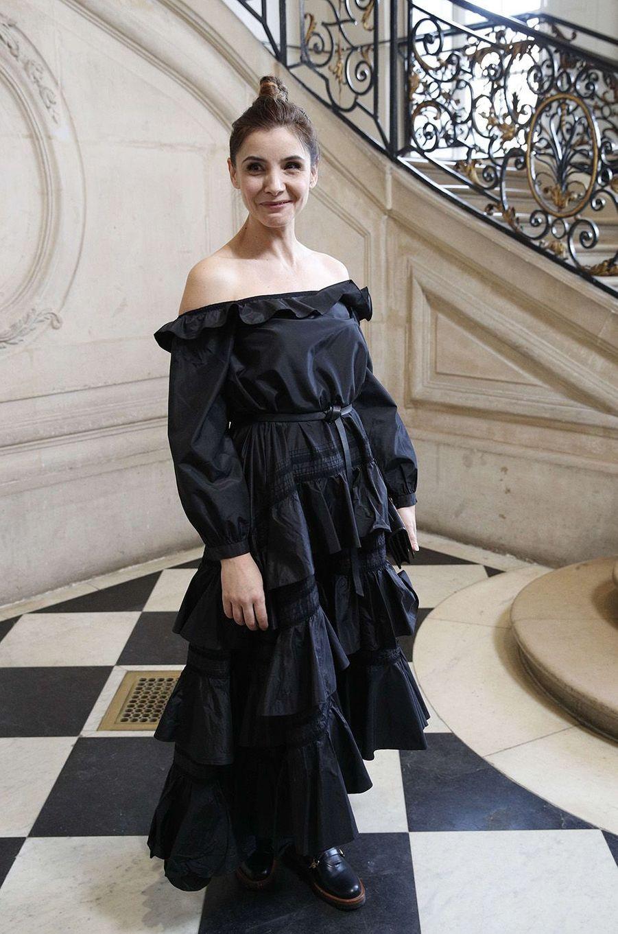 Clotilde Courauau défilé Christian Dior au musée Rodin, à Paris, le 22 janvier 2018.