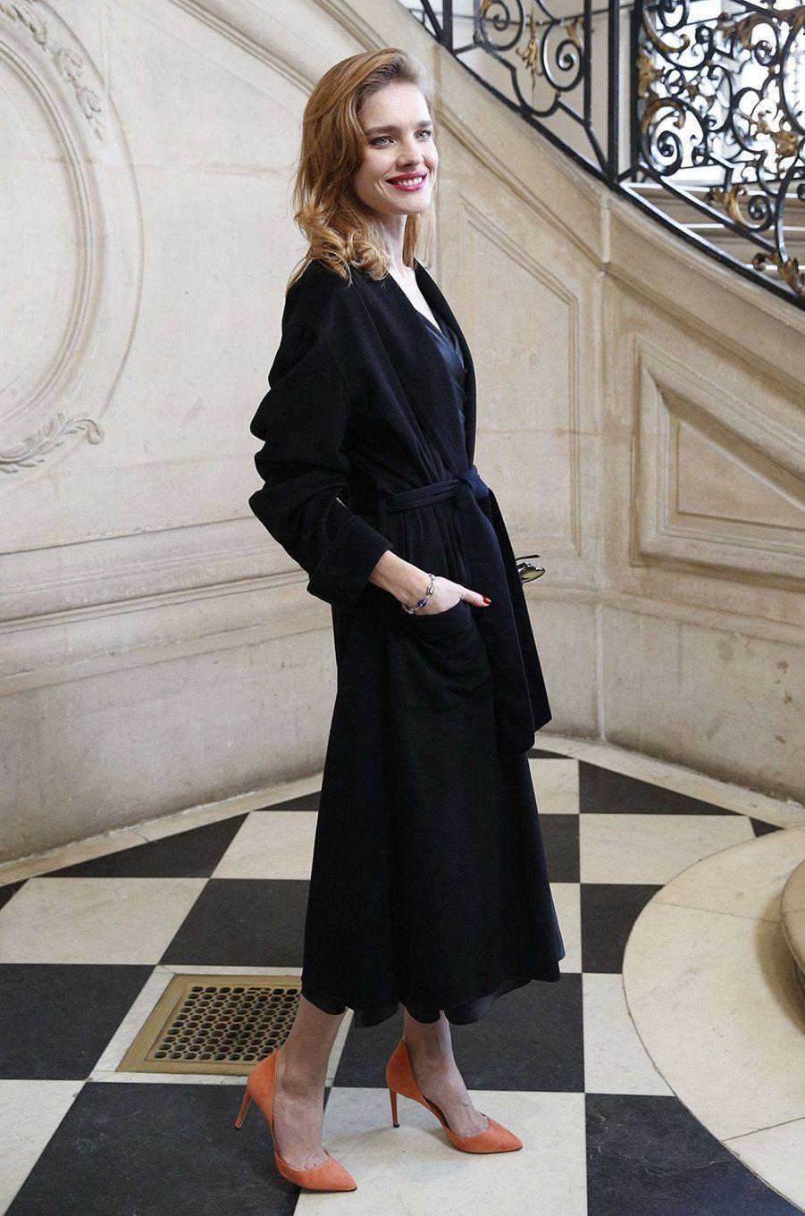 Natalia Vodianovaau défilé Christian Dior au musée Rodin, à Paris, le 22 janvier 2018.