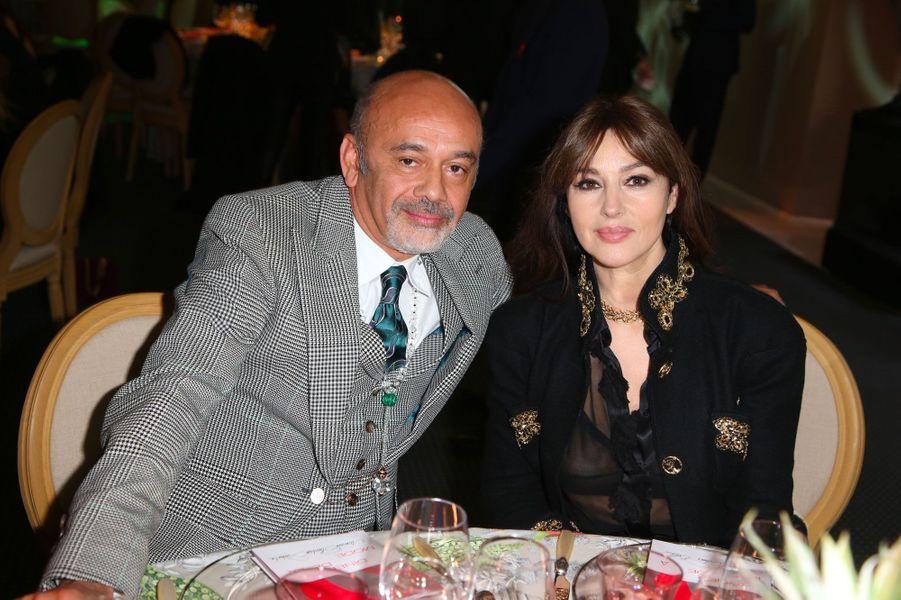 Christian Louboutin et Monica Bellucci