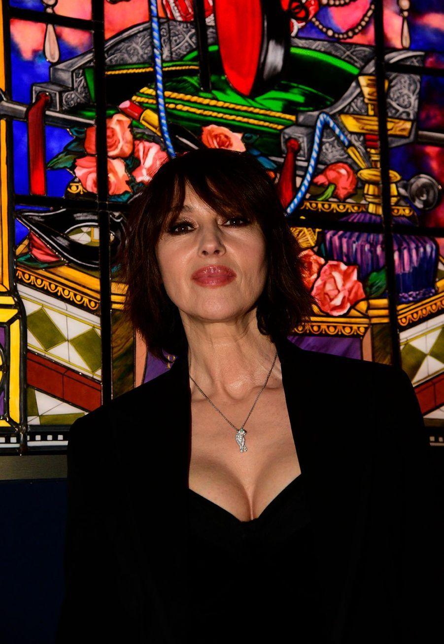 """Monica Belluccilors du vernissage de l'exposition """"Christian Louboutin: L'Exhibitionniste"""" à Paris le 24 février 2020."""