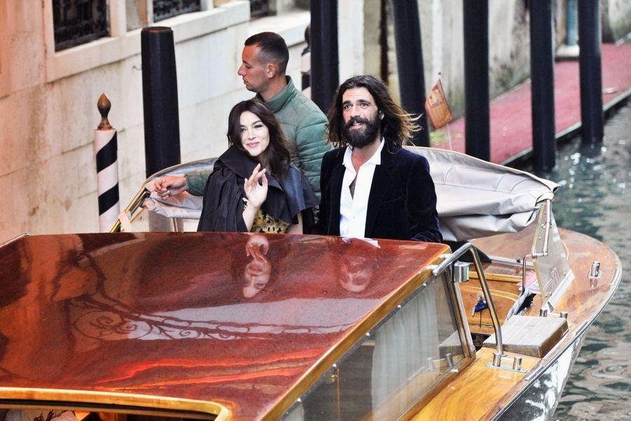 Monica Bellucci et Nicolas Lefebvre à Venise le 11 mai 2019