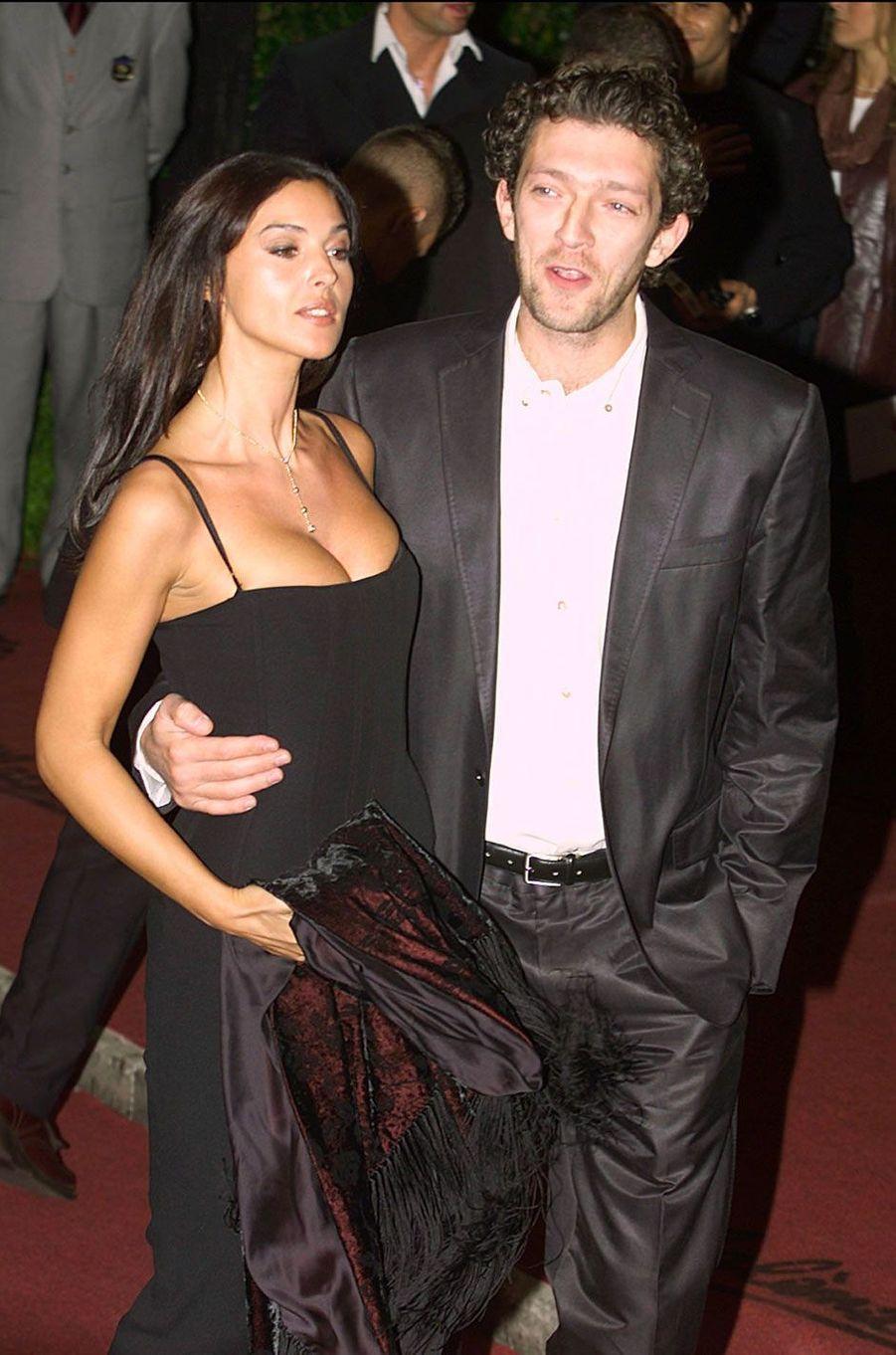 Monica Bellucci et son mari de l'époque, Vincent Cassel, en 2000