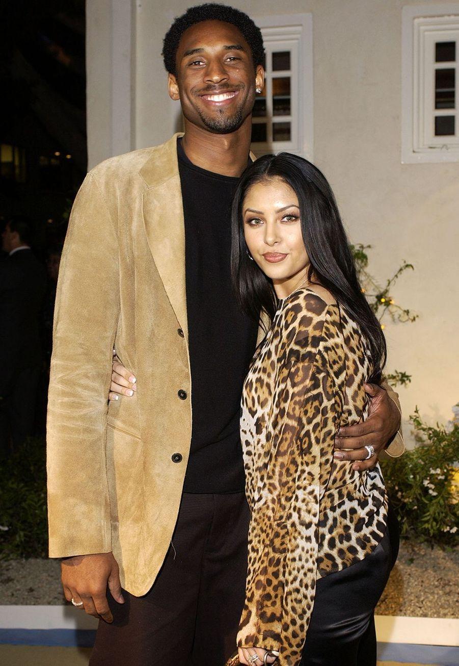 Kobe et Vanessa Bryant à Los Angeles le 12 avril 2002