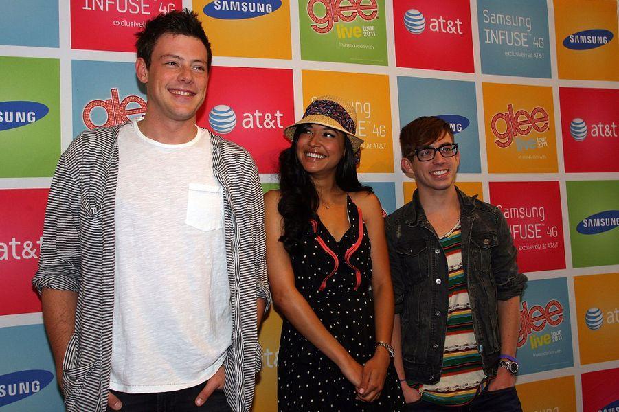 Cory Monteith, Naya Rivera et Kevin McHale