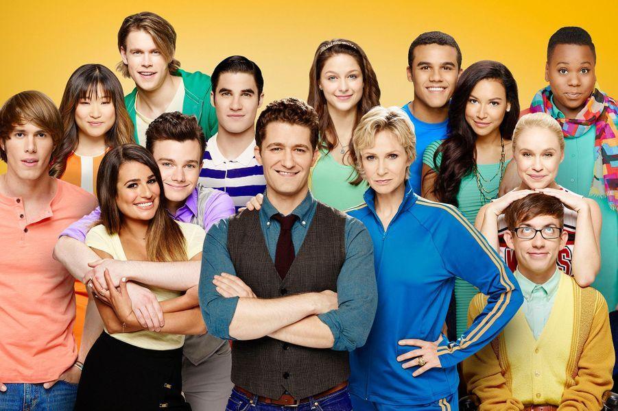 Les acteurs de la série «Glee» pour la photo promotionnelle de la saison 5 en 2013