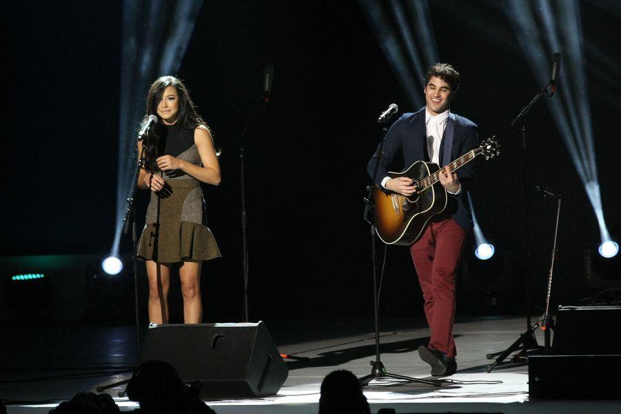 Naya Rivera et Darren Criss