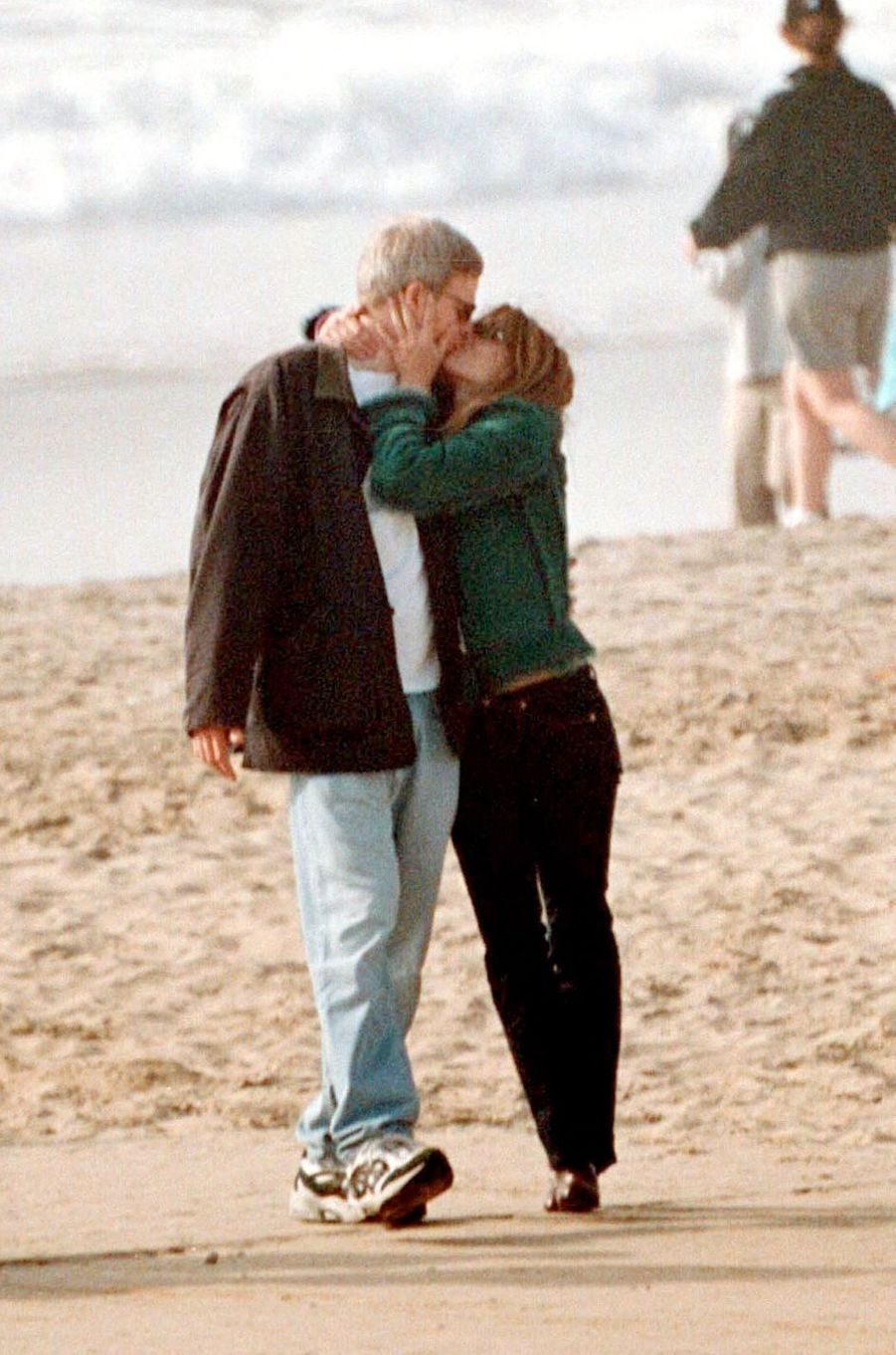 Elizabeth Hurley et Steve Bing à Los Angeles en 2000.