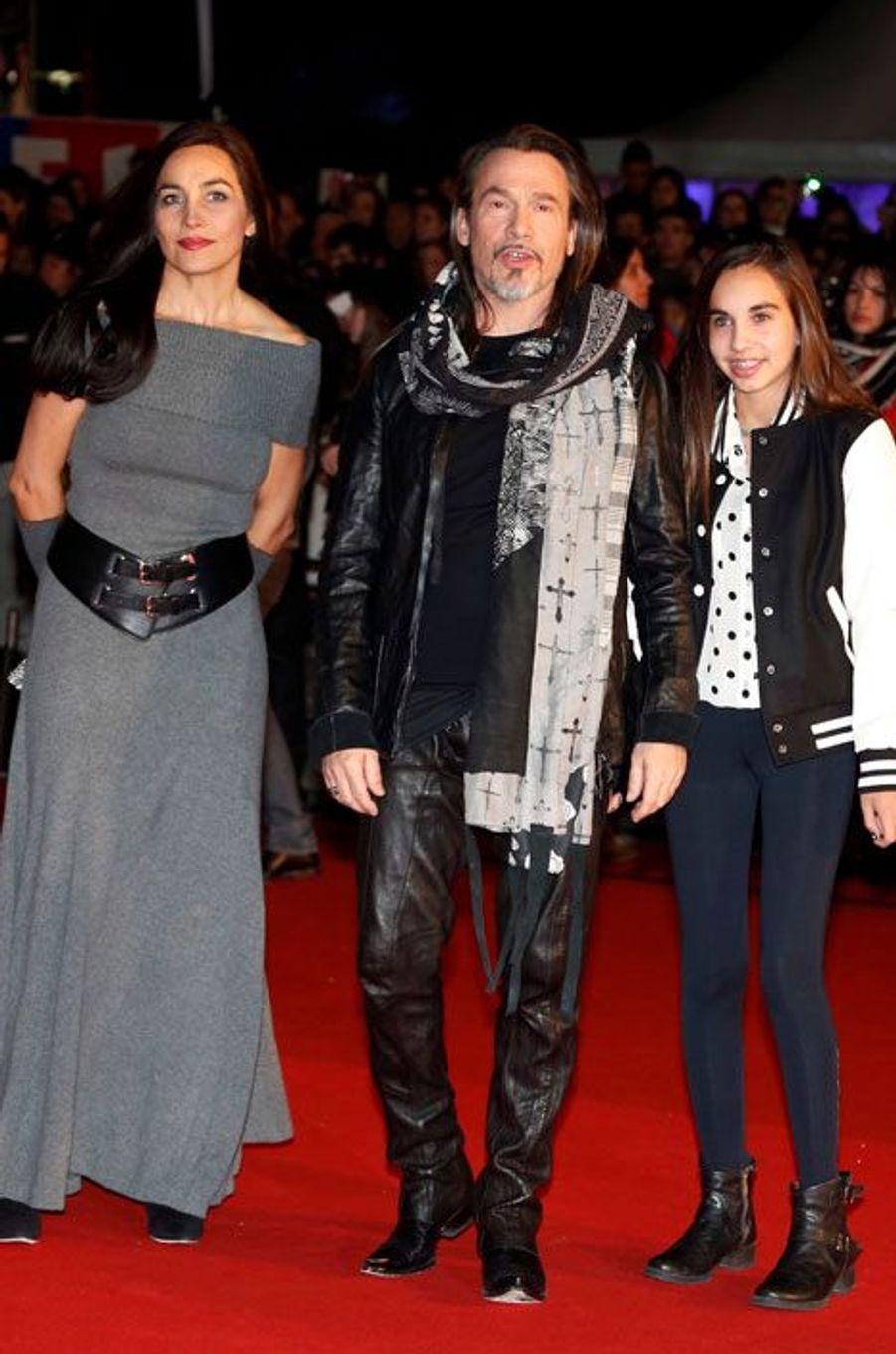 Florent Pagny avec sa femme Azucena et sa fille Ael