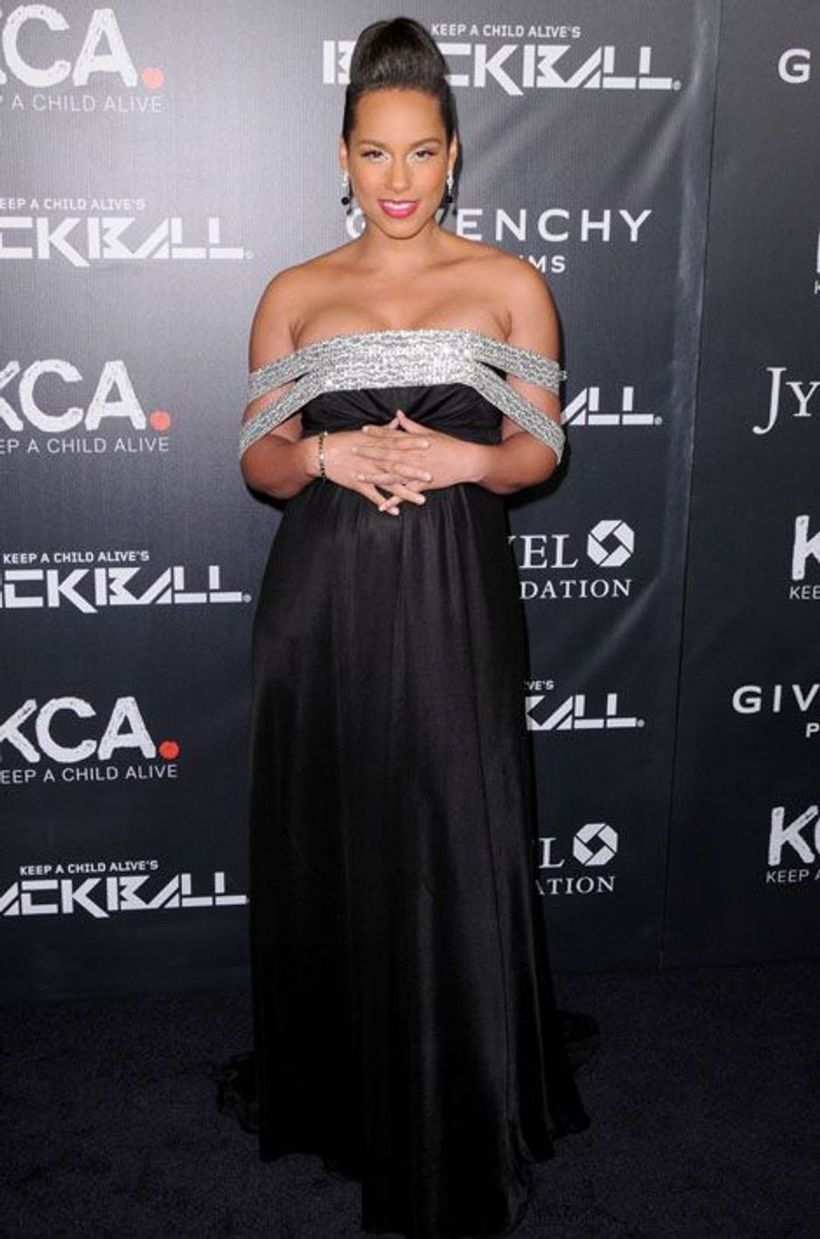 Alicia Keys au Black Ball à New York, le 30 octobre 2014
