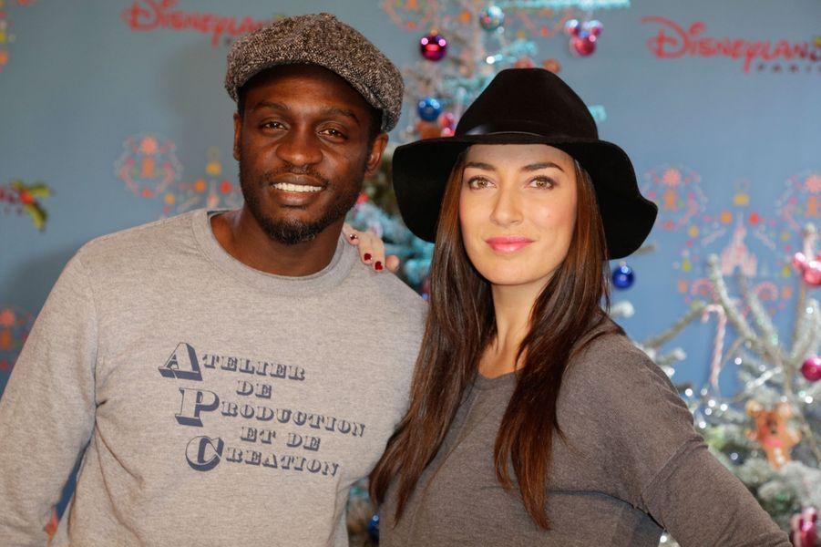 Corneille et Sofia de Medeiros au lancement des festivités de Noël à Disneyland Paris, le 16 novembre 2014