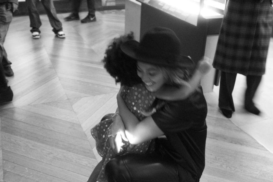 Beyoncé et Blue Ivy lors de leur visite du Louvre