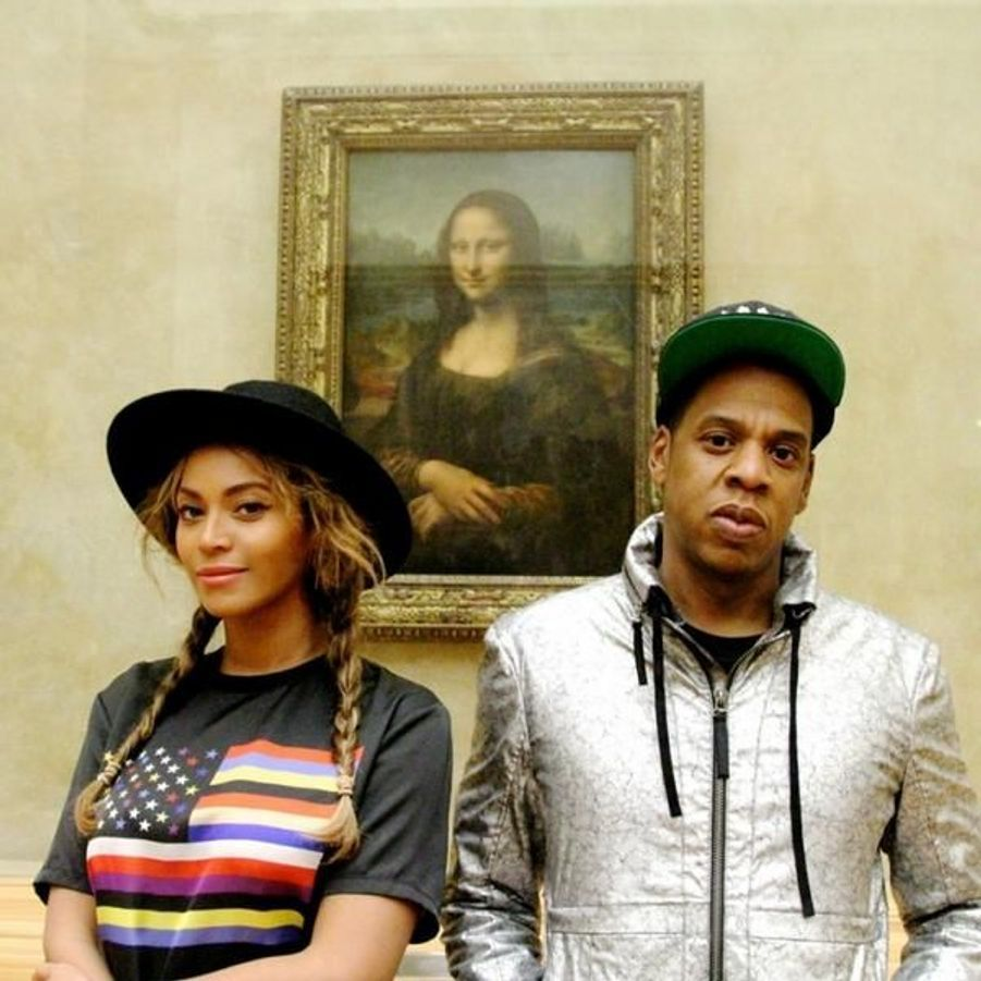 Beyoncé et Jay Z lors de leur visite du Louvre