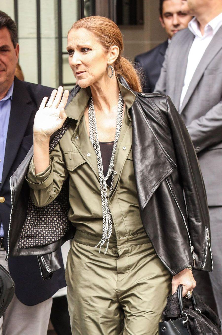 Céline Dion à Paris, le 18 juin 2016