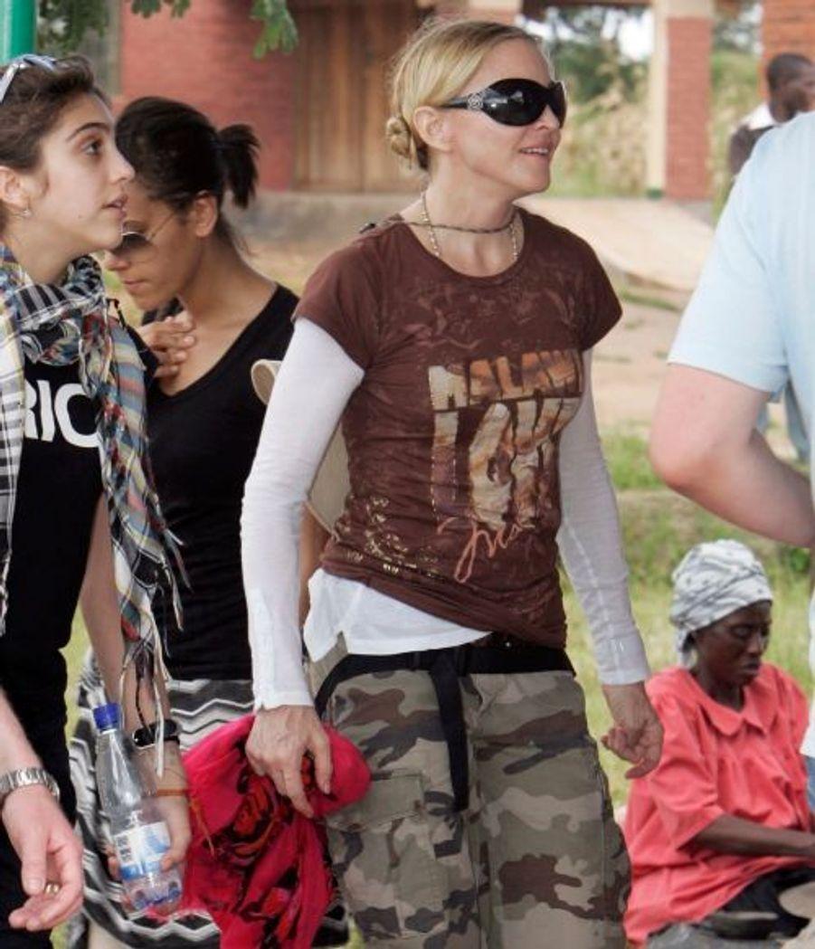 Madonna et sa fille Lourdes, 12 ans.