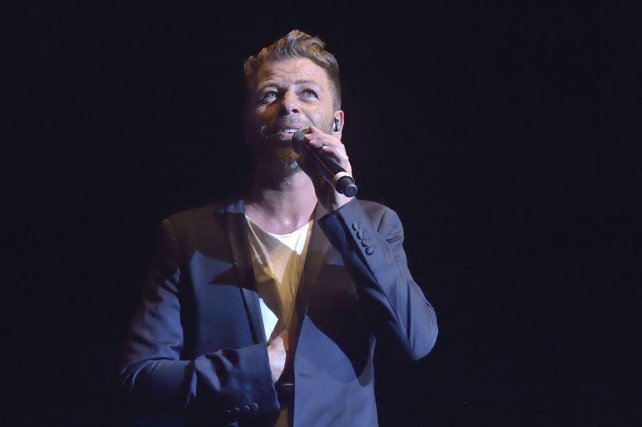 Christophe Maé au concert «Leurs voix pour l'Espoir» à Paris, le 18 septembre 2014.
