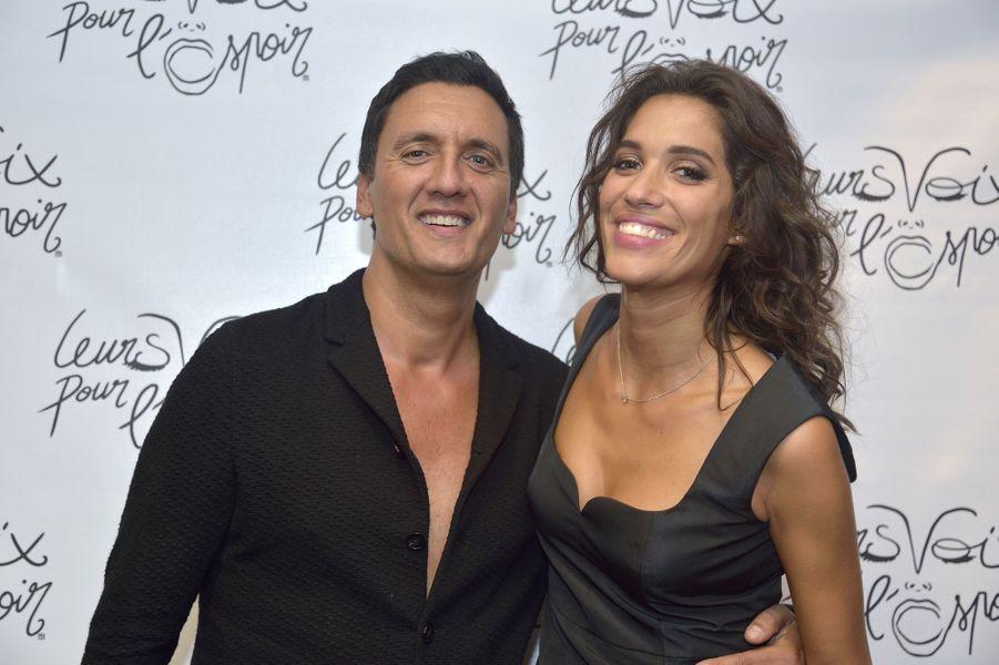 Dany Brillant et Laurie Cholewa au concert «Leurs voix pour l'Espoir» à Paris, le 18 septembre 2014.
