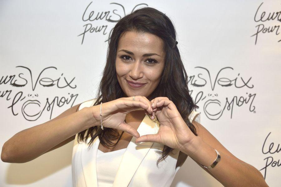 L'animatrice de télévision Karima au concert «Leurs voix pour l'Espoir» à Paris, le 18 septembre 2014.
