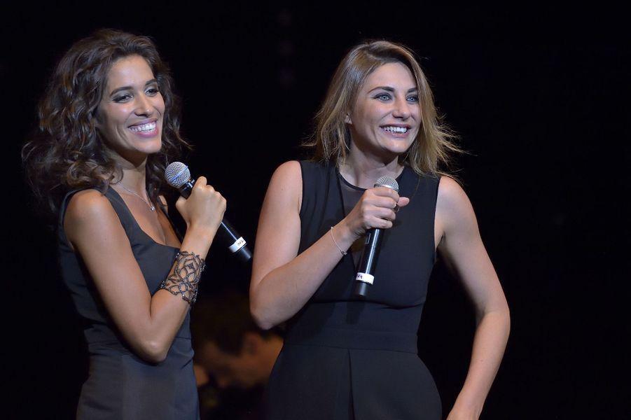 Laurie Cholewa et Ariane Brodier au concert «Leurs voix pour l'Espoir» à Paris, le 18 septembre 2014.