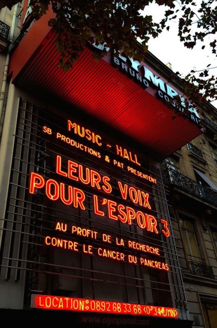 Le concert «Leurs voix pour l'Espoir» à Paris, le 18 septembre 2014.