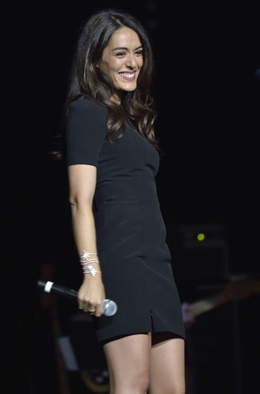 Sofia Essaïdi au concert «Leurs voix pour l'Espoir» à Paris, le 18 septembre 2014.