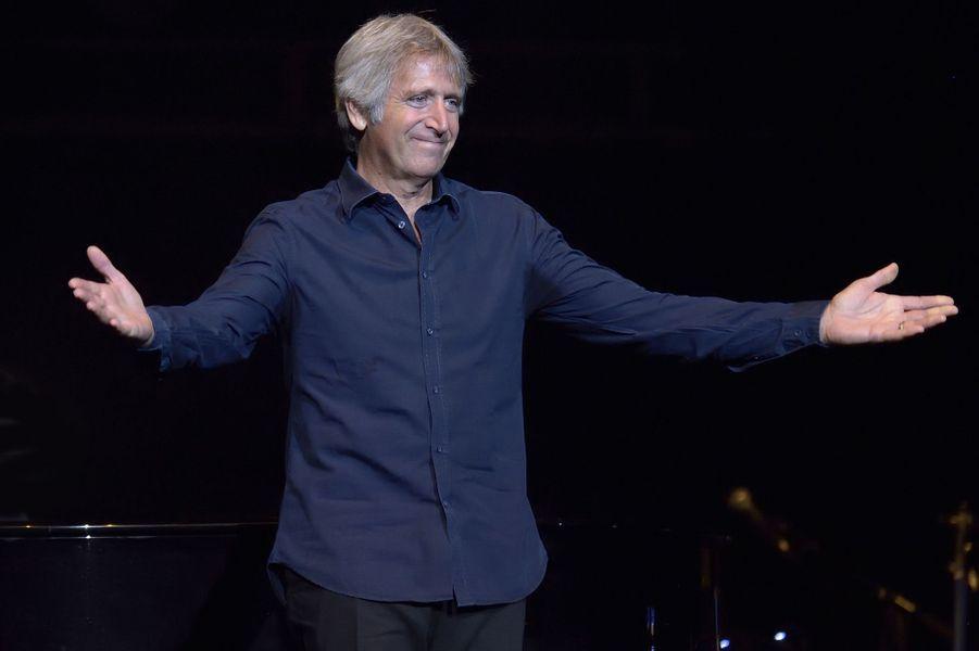 Yves Duteil au concert «Leurs voix pour l'Espoir» à Paris, le 18 septembre 2014.