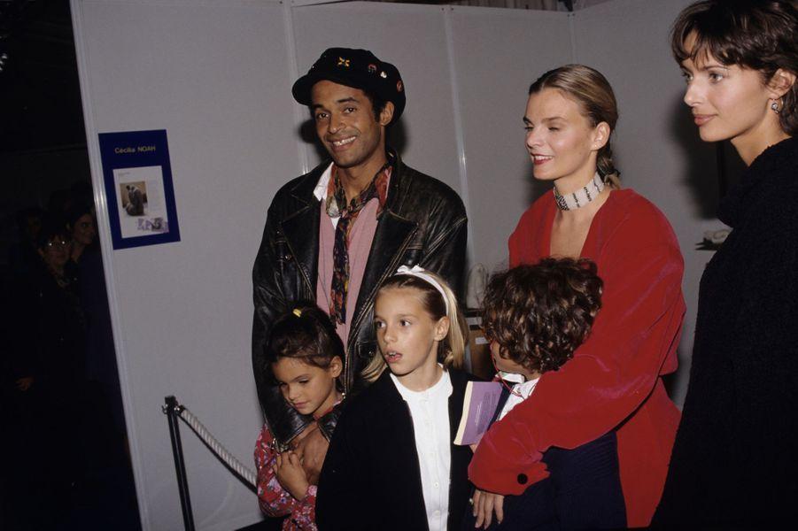 Avec Cécilia, Yelena et Joakim à Paris, 1993
