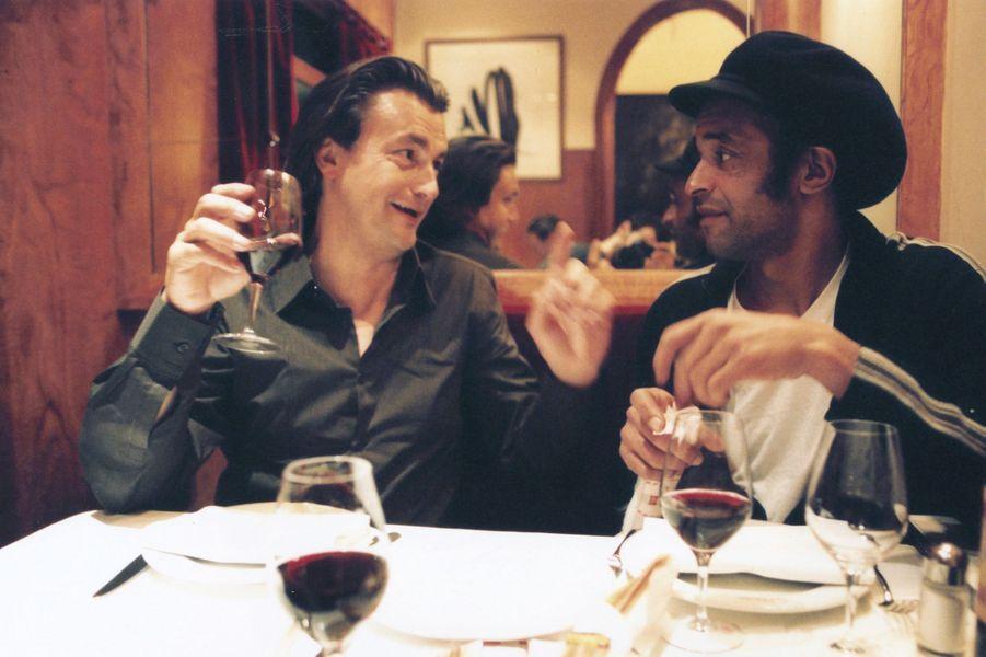 Avec Henri Leconte lors de la sortie de son livre, Paris, 2004