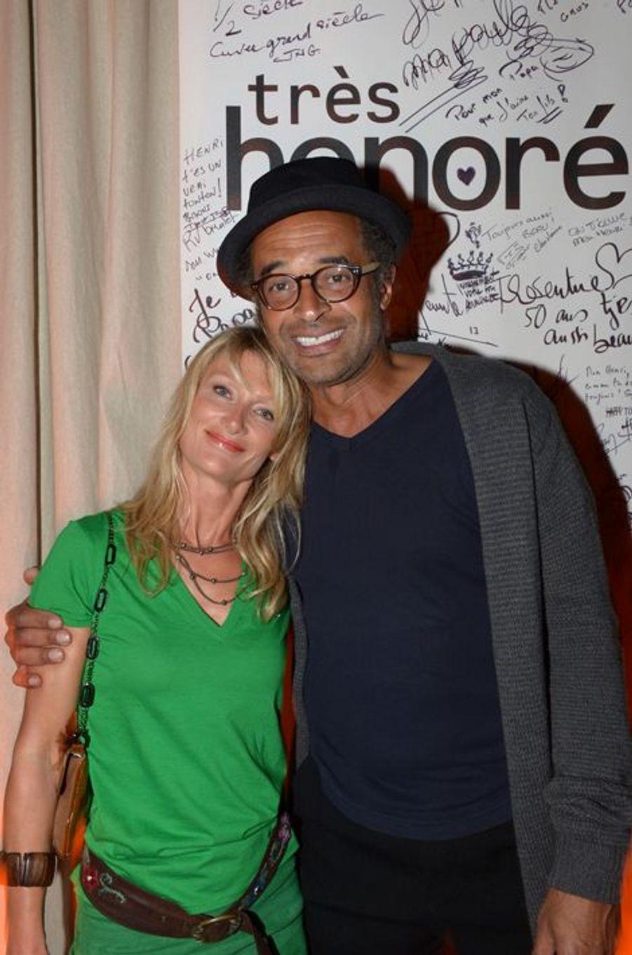Avec Isabelle Camus lors des 50 ans d'Henri Leconte, mai 2013