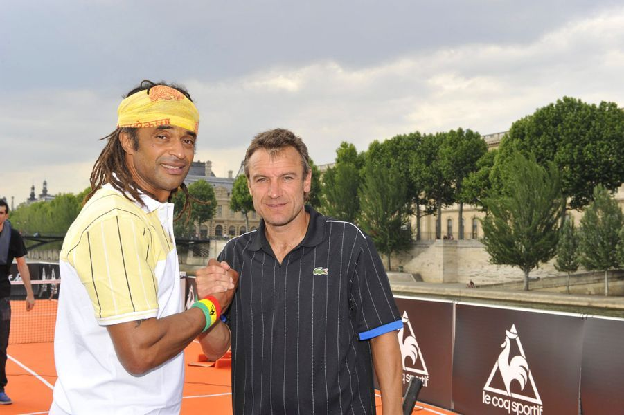 Avec Mats Wilander à Paris, printemps 2008