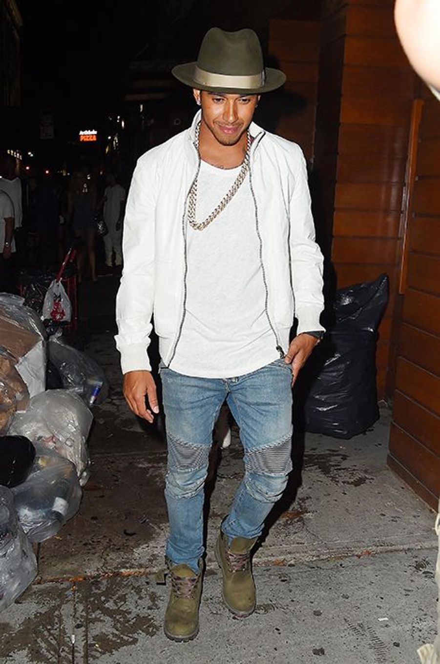 Lewis Hamilton à New York le 11 août 2015