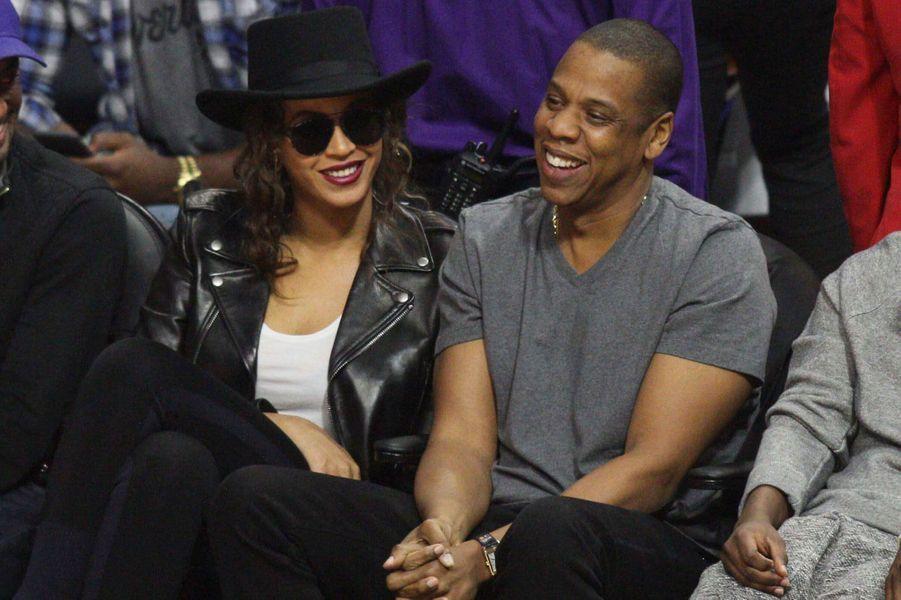 Beyoncé et Jay Z à un match de basket samedi