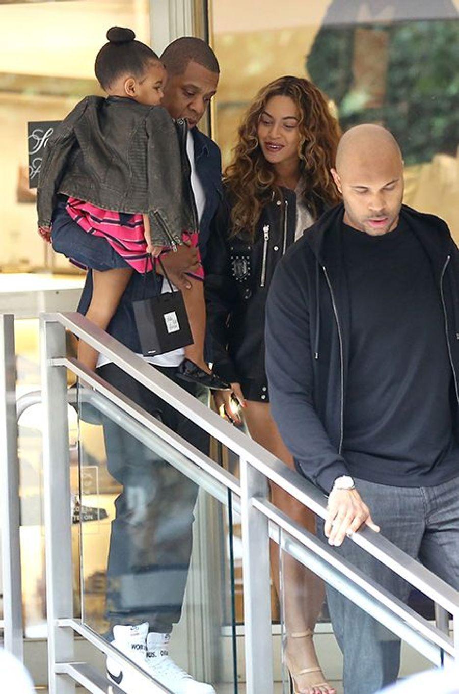 Jay Z, Beyoncé et leur fille à Los Angeles le 11 novembre 2014