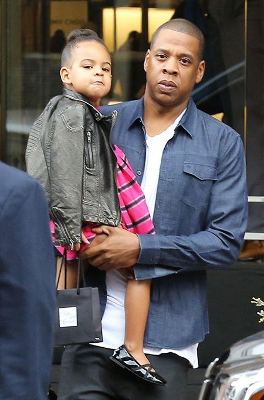 Jay Z et sa fille à Los Angeles le 11 novembre 2014