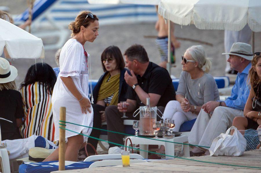 Les proches de la famille Geldof à Rayol-Canadel-sur-Mer dimanche 20 septembre 2015