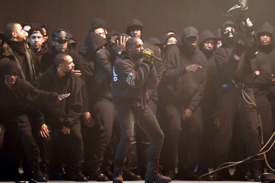 Kanye West à Londres le 25 février 2015