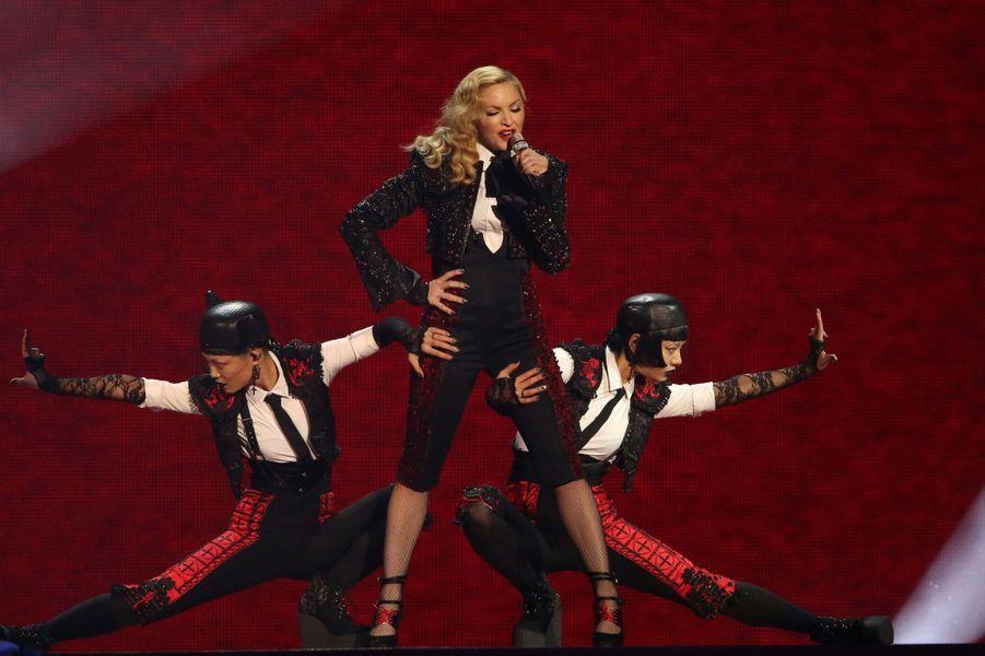 Madonna à Londres le 25 février 2015