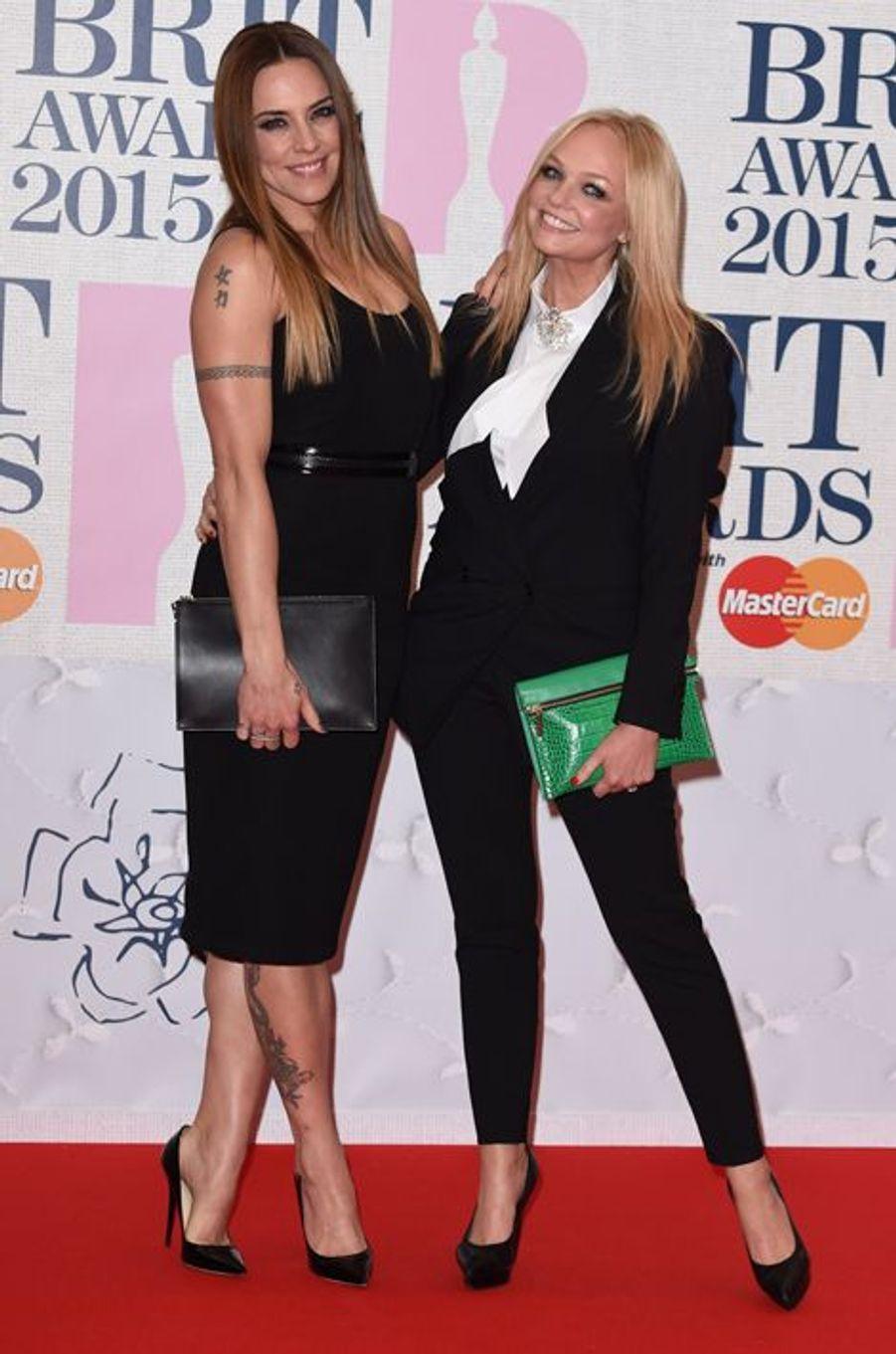 Melanie Chisholm et Emma Bunton à Londres le 25 février 2015
