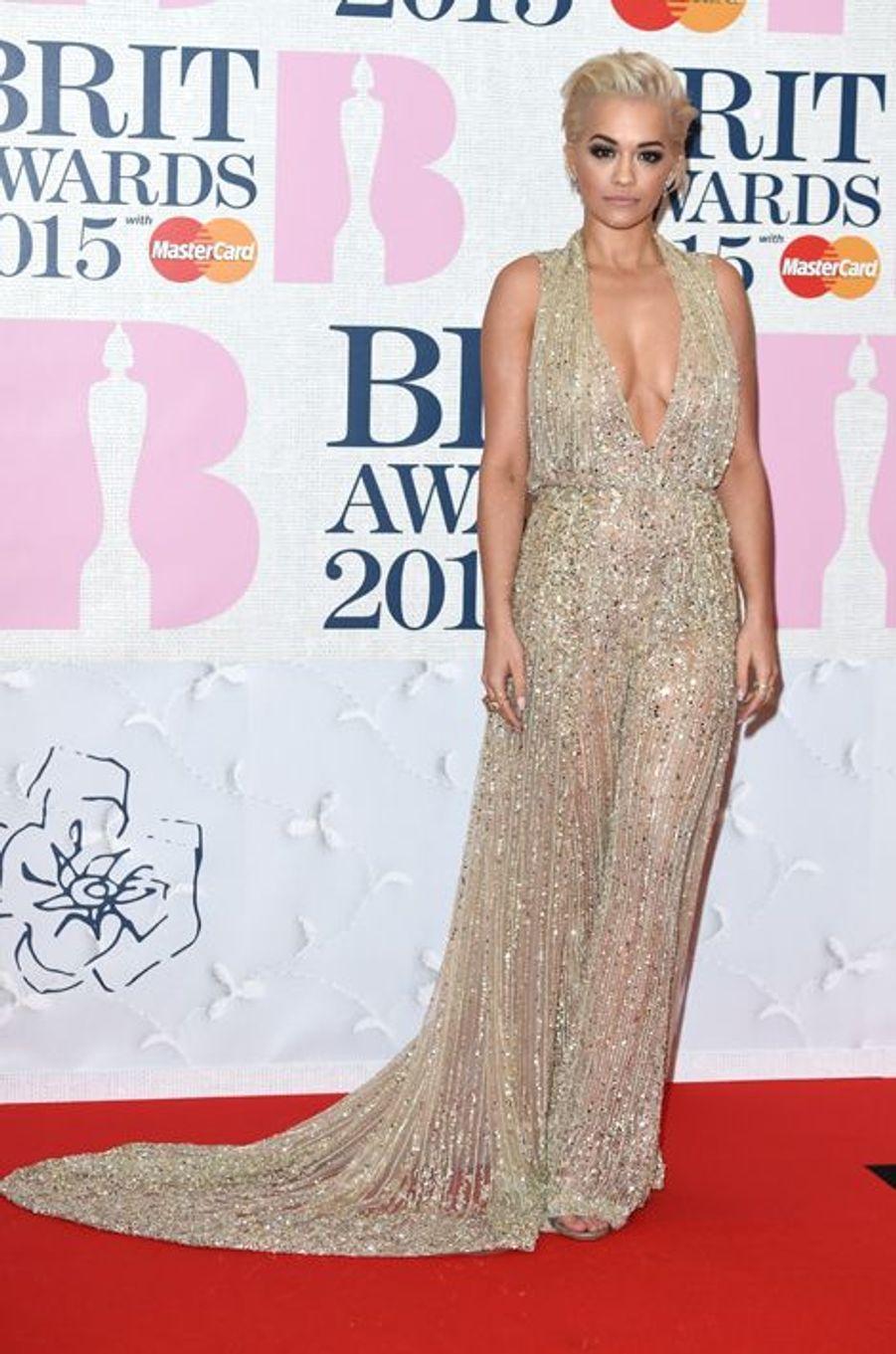 Rita Ora à Londres le 25 février 2015