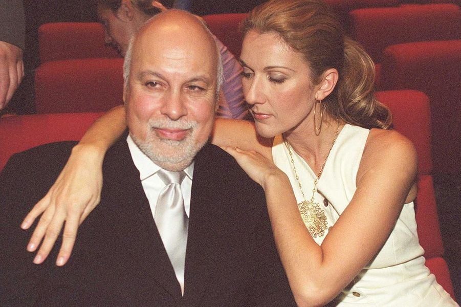 """Céline et René à l'avant-première de """"Cindy"""" à Paris, septembre 2002"""