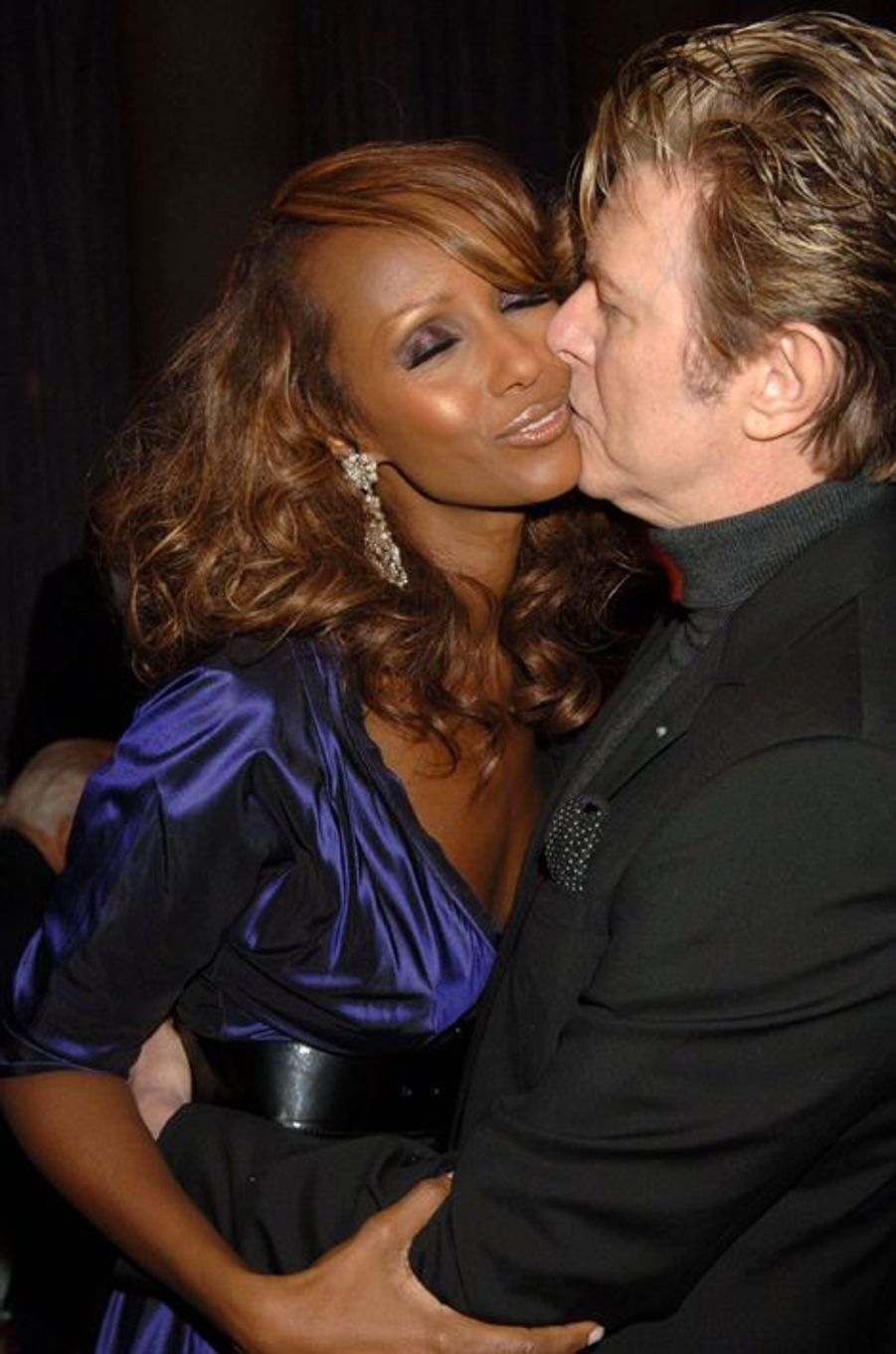 David Bowie et Iman, avril 2006